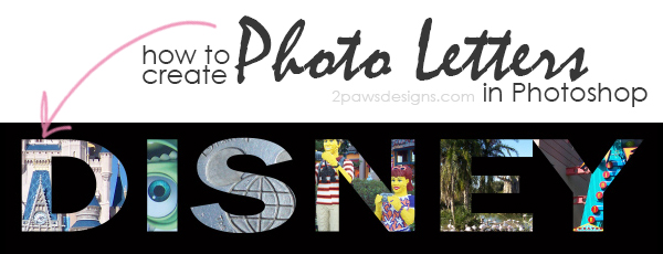 Photo Letters tutorial