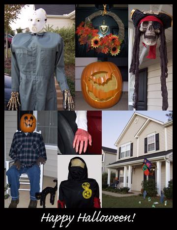 halloween 2007 photo collage