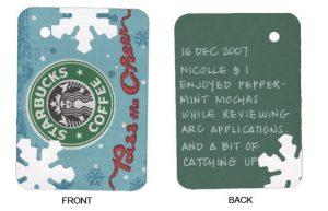 16 Dec 2007: Peppermint Mochas at Starbucks