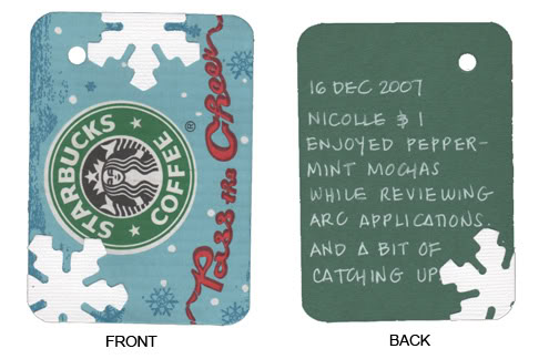 16 Dec 2007: Peppermint Mochas at Starbucks