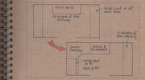 Master Closet: Sketch of New Shelving Layout