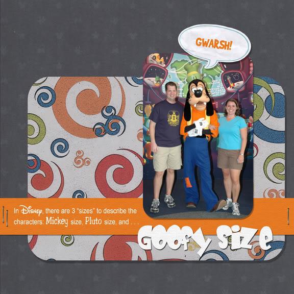 Goofy Size digital scrapbook page