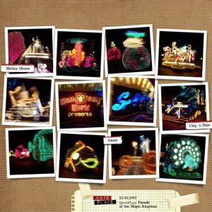 Magic Kingdom: SpectroMagic Parade digital scrapbook page