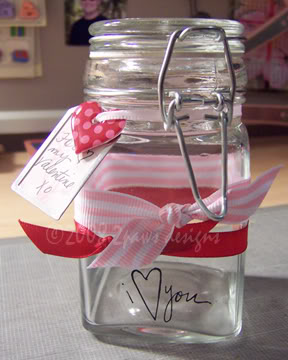 altered Valentine Jar - perfect for a candy gift