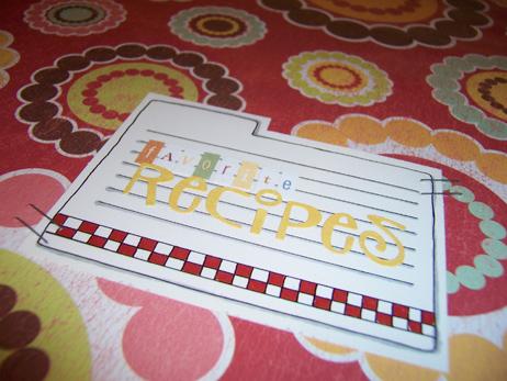Front Detail of Favorite Recipes Binder