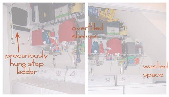 Laundry Closet: Before