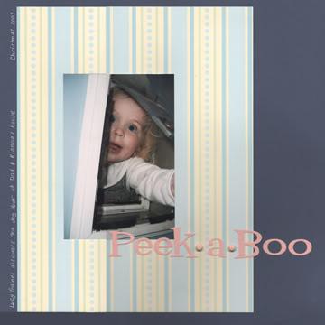 Peek A Boo scrapbook page