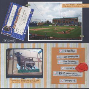 Durham Bulls 2006 scrapbook layout