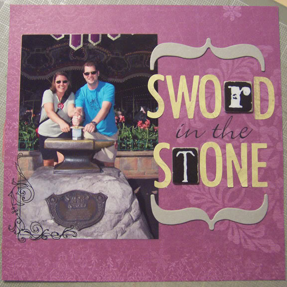 Sword in the Stone scrapbook page