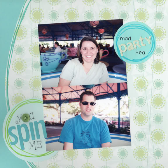 You Spin Me scrapbook page
