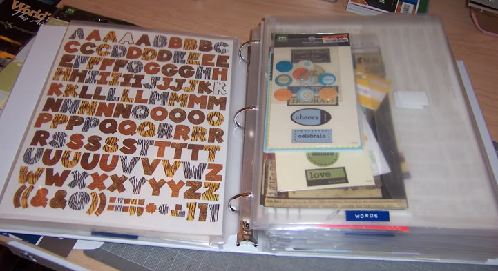 Scrapbooking Sticker Organization