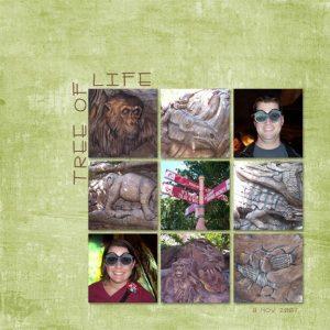 Tree Of Life digital scrapbook page