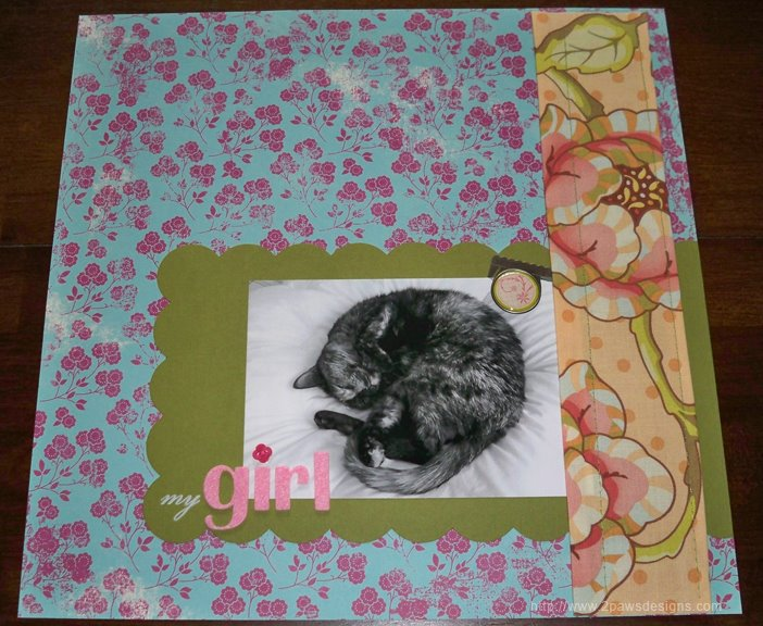 """""""my girl"""" scrapbook page: Full"""