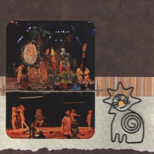 Festival of the Lion King scrapbook page