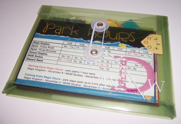 Disney Trip Envelope 2008: outside