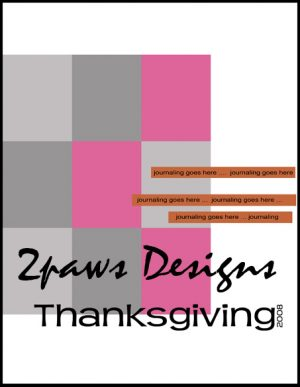 Thanksgiving digital scrapbooking template - 8.5x11