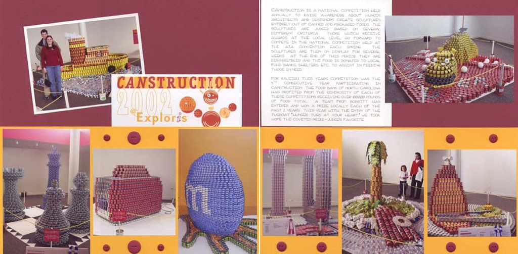 Canstruction Scrapbook Page
