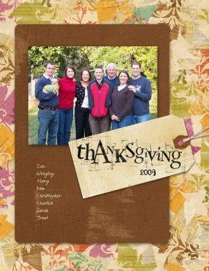 Thanksgiving 2008 digital scrapbooking page