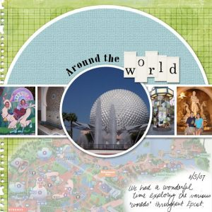 EPCOT: Around The World digital scrapbook page