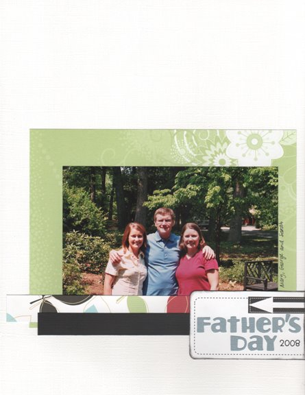 Father's Day 2008 scrapbook page
