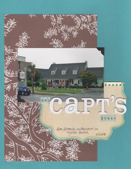 Sea Captain's House scrapbook page