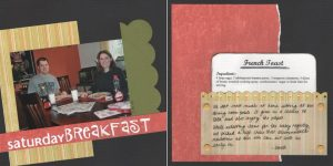 Around the Dinner Table scrapbook page