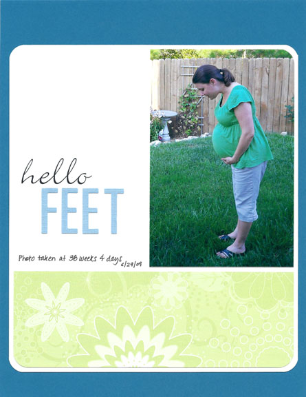 Hello Feet scrapbook page