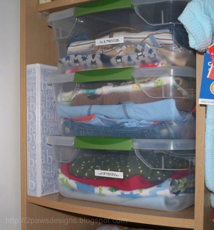 Baby Clothing Storage in Closet