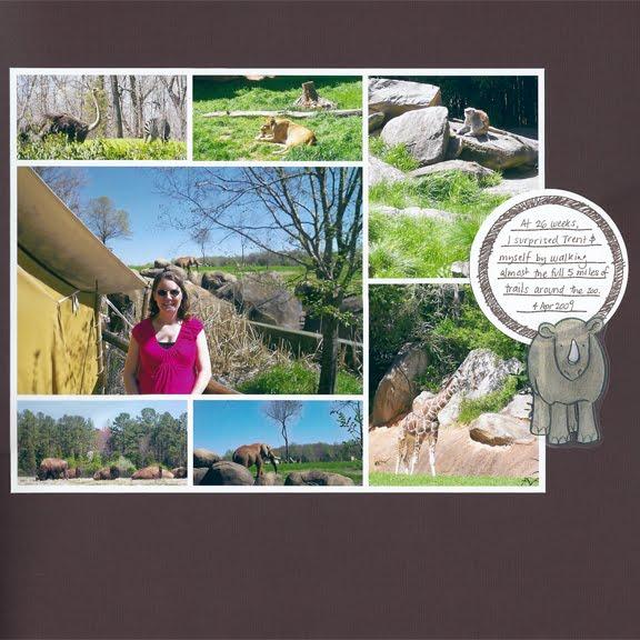 NC Zoo April 2009 scrapbook page