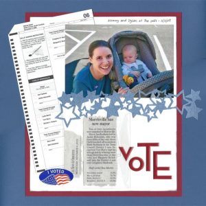vote: election 2009 scrapbooking layout