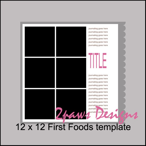 First Foods digital scrapbook template