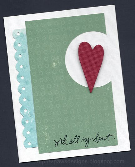 All My Heart valentine card