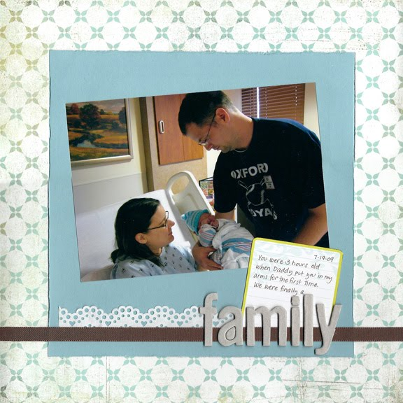 family: scrapbook page