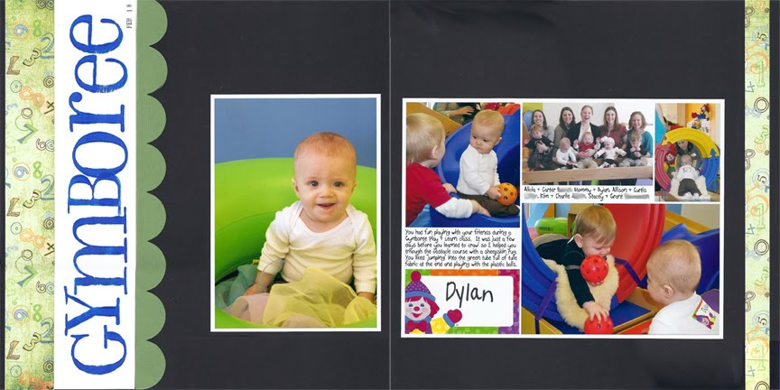 Gymboree Play & Learn Scrapbook Pages