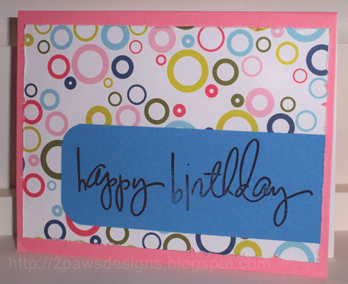 Birthday Circles Card