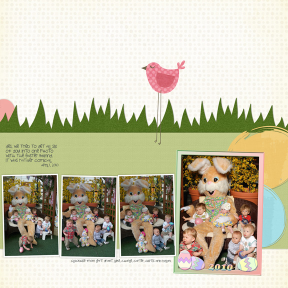 Easter Bunny 2010 digital scrapbooking page