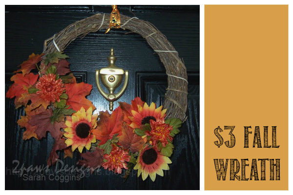 Three Dollar Fall Wreath