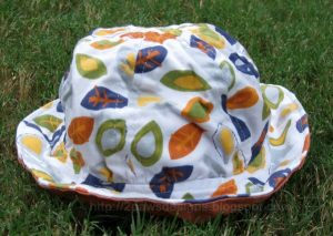 DIY Toddler Sun Hat Complete