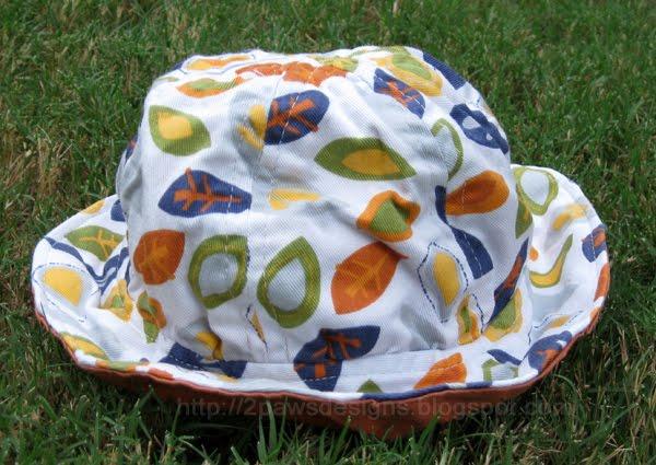 DIY Toddler Sun Hat Complete