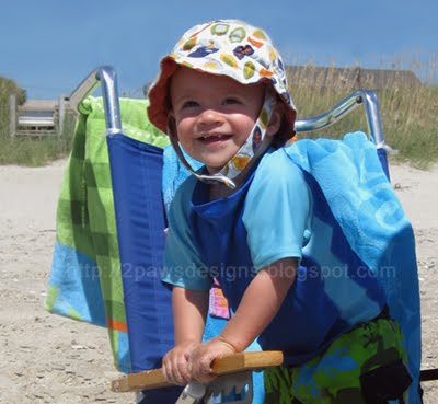 Toddler Sun Hat on the Beach