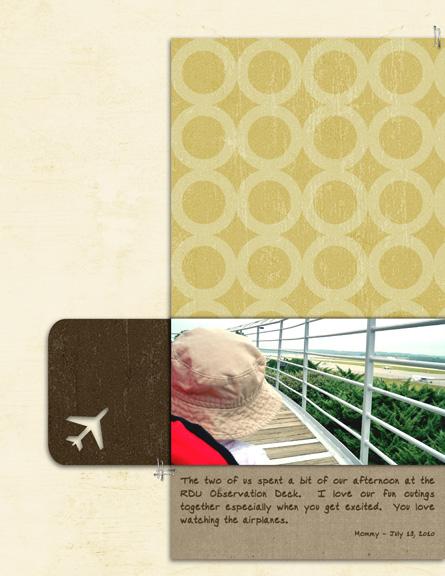Watching Planes digital scrapbook page