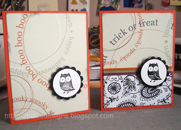 Fox and Friends: Halloween Owl Cards