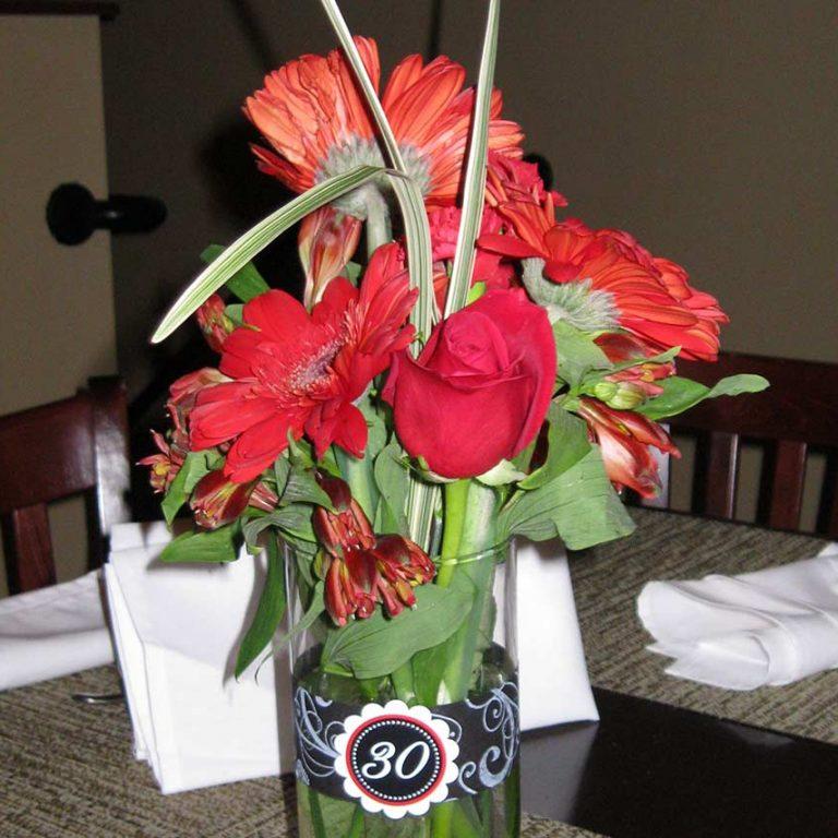 Laurens 30th Flowers