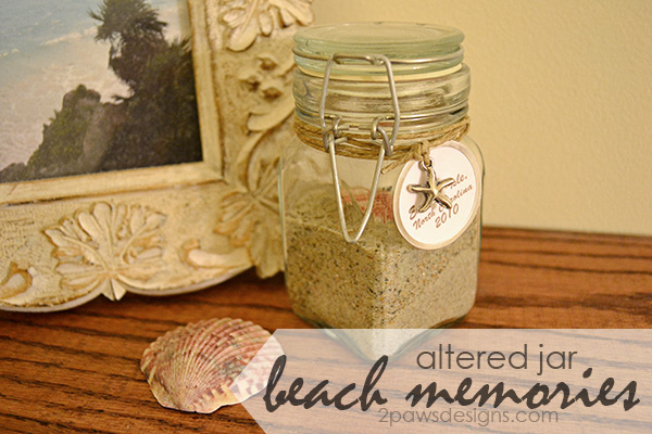 Altered Beach Memories Jar