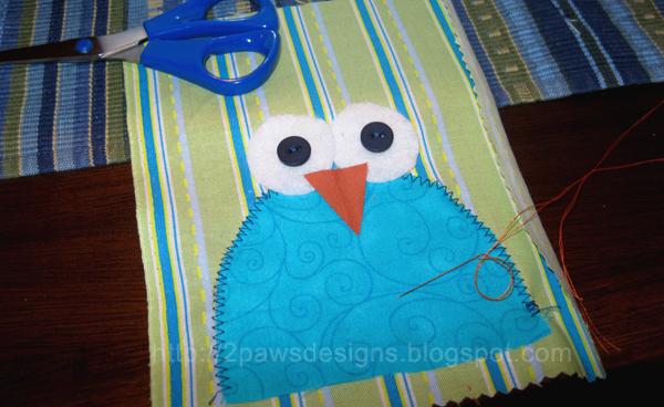 Boo Hoo Owl: In Progress