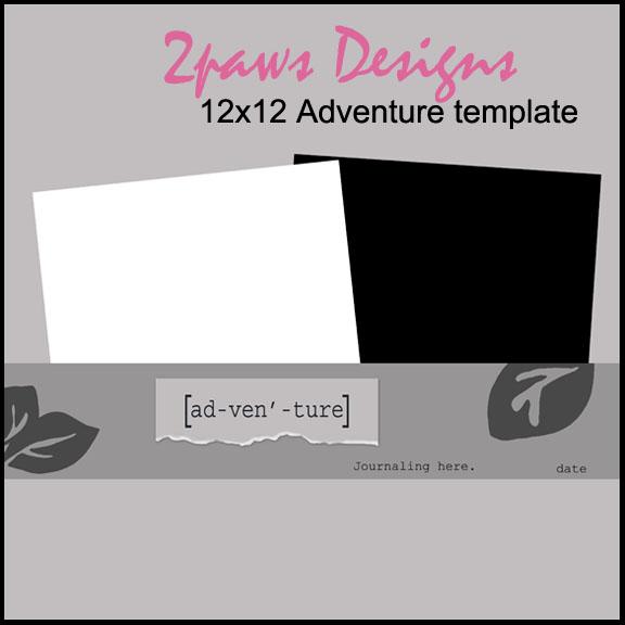 Adventure digital scrapbooking template