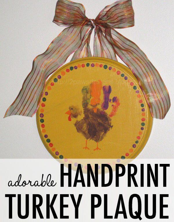 Handprint Turkey Plaque