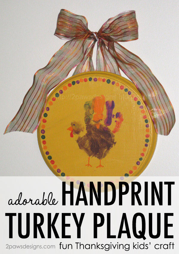 Handprint Turkey Plaque