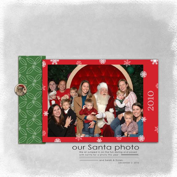 Group Santa Photo 2010 digital scrapbook layout