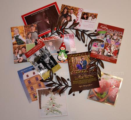Christmas Decor: Card Wreath